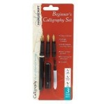 Beginners Left Hand Calligraphy Pen Set 3 Nibs & Guide Thumbnail